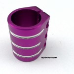 Custom Pro Scooter Clamps,China Cheap Stunt Scooter Clamps Wholesale, Purple 3-Bolt Pro Scooter Clamp For Sale