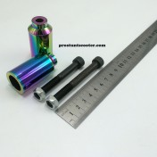Oil Slick Scooter Pegs , Oilslick Scooter Pegs, Rainbow Scooter Pegs , Neo Chrome Scooter Pegs, Pro Scooter Pegs