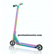Oil Slick Stunt Scooter , Oil Slick Freestyle Scooter , Rainbow Stunt Scooter, Oil Slick Trick Scooter