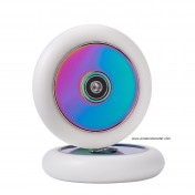 Super Light Air Scooter Wheels 110mm , White Air Scooter Wheels 110mm, Air Wheels for Pro Scooter Wheels, Neo Chrome Air Scooter Wheels 110mm