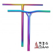 Neo Chrome Pro Scooter Bars Wholesale, Neo Chrome Stunt Scooter Bars Factory Wholesale, Rainbow 4130 Chromoly Steel T bars for sale