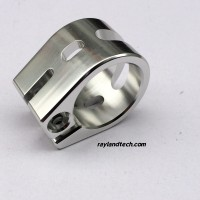 Polished Silver 2-Bolt Pro Scooter Clamp Factory Wholesale,Cheap China Pro Scooter Clamps Promotion, Custom Stunt Scooter Clamp