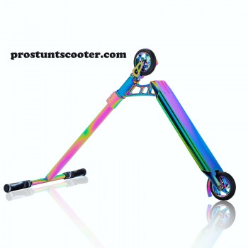 Neo Chrome Pro Scooter , Rainbow Stunt Scooter, Oil Slick Trick Scooter